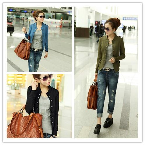 hot Sale New Autumn Collection Women'S Basic Slim Short Coat ...