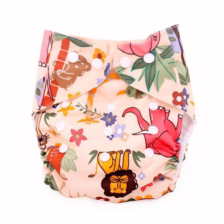 만화 동물 아기 기저귀 커버 천 기저귀 유아 TPU 헝겊 기저귀 다채로운 가방 동물원 12 색