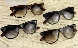 Wholesale Wholesale Framing Nails - 10 PCS Red Wood Sun Glasses Vintage Banboo Sunglasses For Men And Women Big Frame Metal Nail