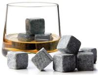 Wholesale item stone - Free shipping! Whiskey stones 9pcs set, whisky rock, sipping stone, Christmas gift,ice cube,bar item