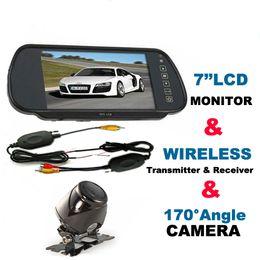 "Wholesale Wireless Rear View Reversing Mirror - Car Rear View Kit 7"" LCD Monitor Mirror + Wireless Reversing Camera"