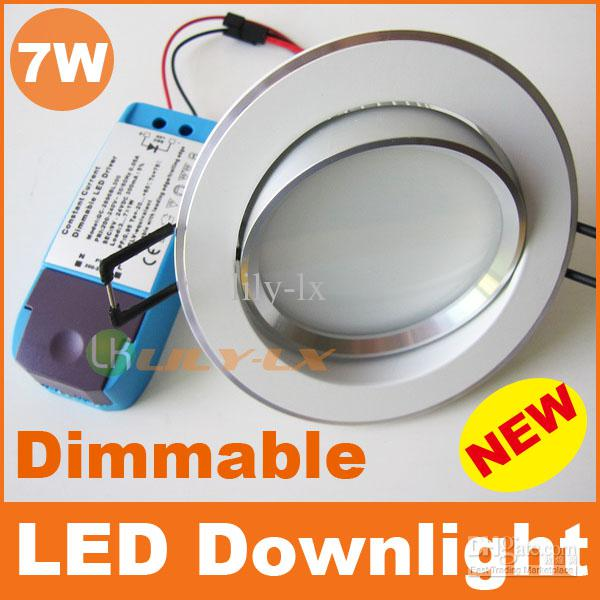 New 7w led downlight dimmable recessed ceiling lights 120 beam new 7w led downlight dimmable recessed ceiling lights 120 beam angle ac110v 240v ce rohs saa 50pcs aloadofball Images