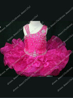 Wholesale Cupcake Style Pageant Dresses Girls - Gorgeous Ball gown One shoulder Short Flower Girl Dresses Style Girl Cupcake Dress Pageant Dresses