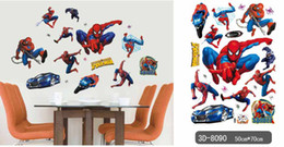 Wholesale Decal Paper For Cars - new wall stikers Boy's Bedroom 50x70cm Pixar CARS Wall Stickers Kids Nursery Room Art Decal Decor