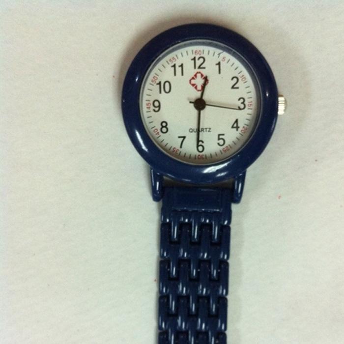 Klassische Krankenschwester-Uhr-Doktor-tragbare Fob-Uhr-Broschen-Edelstahl-Batterien Medizinische Luxuskrankenschwester-Uhr-Quarz mit Pin-freiem Verschiffen