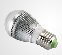 Wholesale E27 Led Lamp 1w - Retial high power Cree 3W 3*1W 85-265V golden silver led globe bulb E27 GU10 B22 lamp AC 85-265C