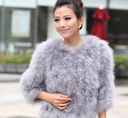 Wholesale Ostrich Feather Coat Xl - 2012 New Ostrich hair and Fire chicken-feather Fur coat fashion luxurious women's fur overcoat