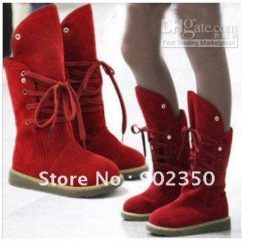Warm Winter Fur Boots For Women Lace Up Snow Boots Fashion Women ...
