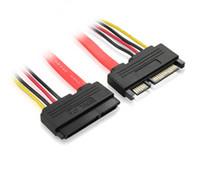 жесткий кабель оптовых-SATA удлинительный кабель 7+15 SATA кабель для передачи данных + провод питания / мужчин и женщин жесткий диск удлинить линию