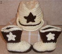 Wholesale Crochet Hat Boots - 20% off * HANDMADE baby Crochet shoes,crochet hats cap beanies boots toddler infants baby wear.5set