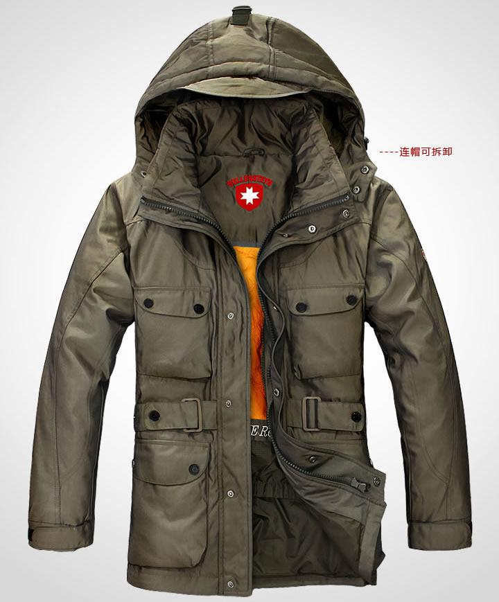 2017 Men Winter Coat Dust Coats Keep Warm Fur Collar With Cap ...