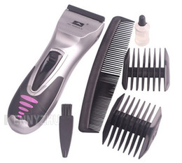 Wholesale Male Body Hair Trimming - New Travel Cordless Men's Electric Hair Trimmer Clipper Shaver Handy Set Use Battery
