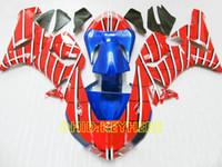 kits de carenado postventa zx6r al por mayor-Kit de carenados de moto Spider-Man rojo para 2005 2006 KAWASAKI Ninja ZX6R 05 06 ZX 6R aftermarket