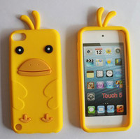 Wholesale Itouch Soft Silicone Case - DHL free Chickabiddy Chicken Case For itouch 5 for ipod touch 5 Chook soft silicone Back Cover 3D