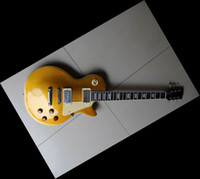 Wholesale Black Vos Custom Guitar - Custom Shop 57 Reissue VOS Goldtop gold top electric guitar freside binding one piece neck VOS