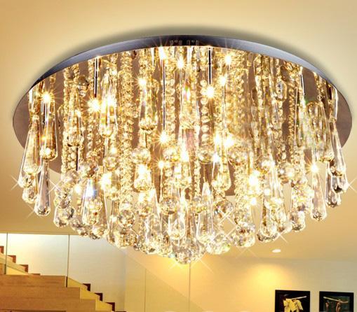 See larger image. Modern Luxury K9 Crystal Bedroom Living Room Ceiling Lamp Crystal