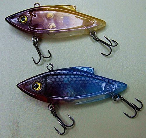 7.5 cm 13G LED-vissen lokken visgerei vibratie zinkend hard plastic aas zout of verse vis lokt in water met een rode knipperende lichten