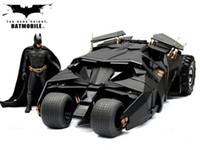 juguetes caballero oscuro al por mayor-The Dark Knight BATMAN BATMOBILE Vaso BLACK CAR Vehecle Juguetes con figura