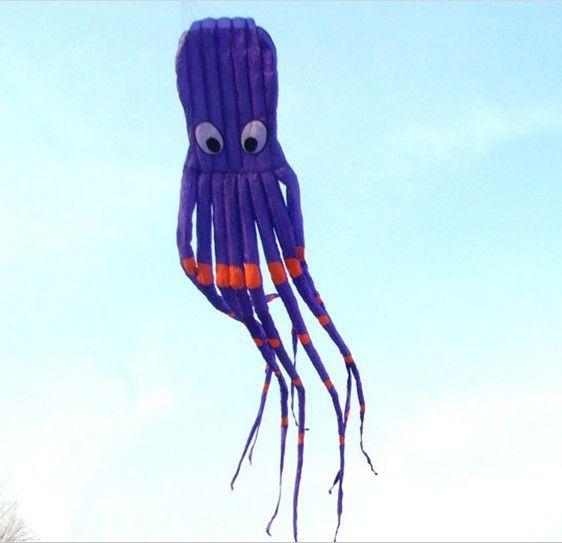 3D 26ft 8m simple ligne Stunt Parafoil Violet Octopus POWER Sport Kite extérieur jouet extérieur A ++