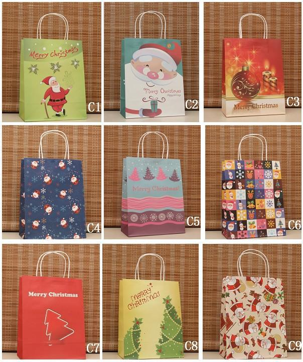 Wholesale mixed christmas gift bag colorized present