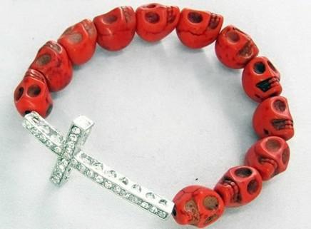 50st * Skalle pärlor sida vägar korsarmband sidled korsarmband plocka färg