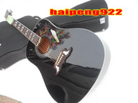Wholesale Guitar Hot Folk - Hot Sell 41INCH DOVE BLACK Acoustic Guitar 6 Strings Folk Guitars Free Shipping