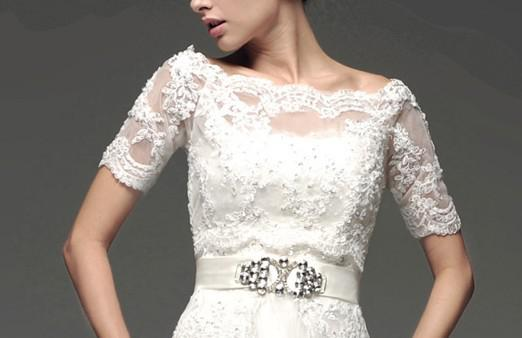 2017 Hot Sale White Lace Jacket Off Shoulder Match For Wedding ...