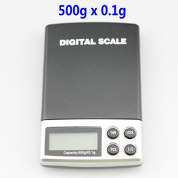 Wholesale Digital Weighing Scales 1kg - 500g x 0.1g Blue Backlight LCD Balances Digital Weighing Scales Pocket Jewelry Weight Scale 10pcs