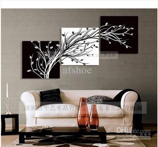 Wall Art Painting 2017 modern abstract huge wall art oil painting on canvas: black
