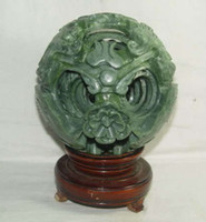 Rare Crafts Chinese jade magic magic Puzzle Ball + stand