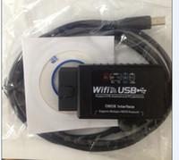 Wholesale Elm Wifi Ipad - elm327 wifi usb OBD WIFI ELM 327 WI-FI OBD2 auto scanner for iPhone iPad PC obdii wifi