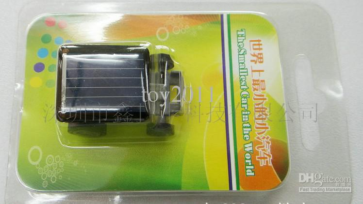 200 pcs lot The World's Smallest Mini Solar energy powered racing Car Toy Gadget-Great Gift Idea