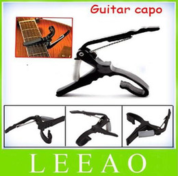 Wholesale Acoustic Capo - Lowest Price 200pcs lot Quick Change Trigger Key Capo Acoustic Electric Guitar Clamp Black