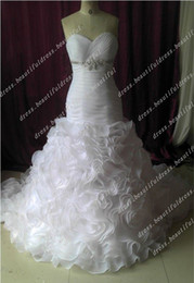 Wholesale Mermaid Dress Type - Hot Sale New Beautiful Style Sweetheart Sexy Mermaid type Wedding Gown Wedding Dresses Wedding Dress
