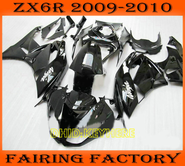 Glossy blk motorcycle ABS fairing for KAWASAKI Ninja ZX6R 09 10 ZX 6R 2009 2010 Custom race body kit
