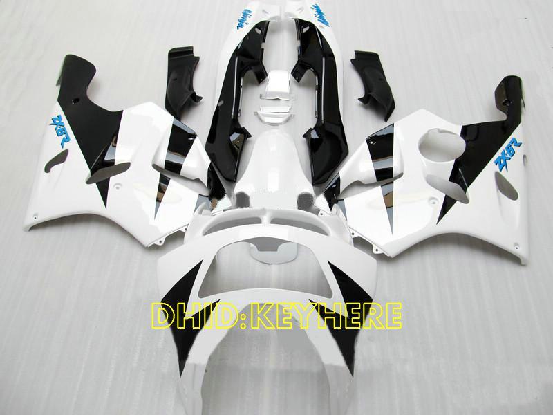 Carénage de course ABS noir blanc pour KAWASAKI Ninja ZX6R 1994 1995 1996 1997 ZX 6R 97 96 95 94