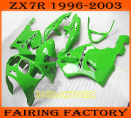 Wholesale 1997 zx7r fairings - Light green moto aftermarket fairing for KAWASAKI Ninja ZX7R 1996-2003 ZX 7R 96 97 98 99 00 01 02 03