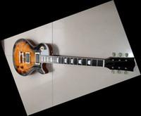 Wholesale Electric Guitar Neck Fretboard - Standard electric guitar mahogany body ebony fretboard&fretside binding one piece neck Bone Nut