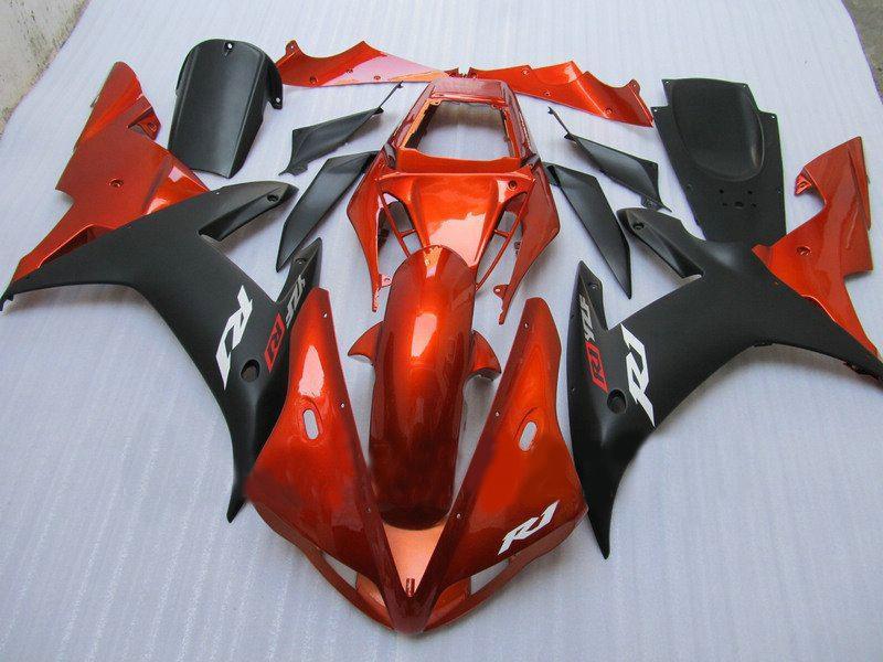 オレンジ/ブラックカスタムABSフェアリングセットYamaha YZFR1 02 03 YZF R1 2002 2003アフターマーケットフェアリング
