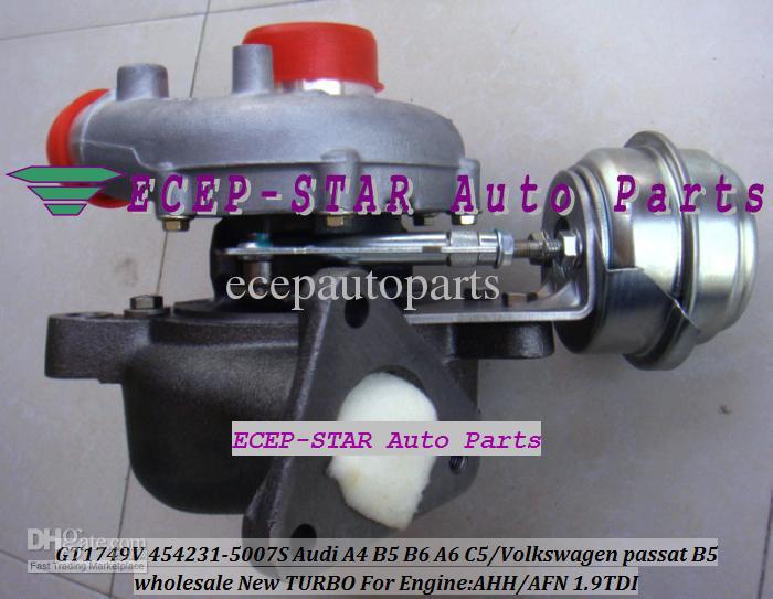 Turbo GT1749V 454231 454231-5007S 028145702H Turbocharger For AUDI A4 B5 B6 A6 C5 For Volkswagen VW passat B5 1997-04 AVB AHH AFN 1.9L TDI