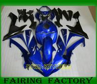 yamaha r1 satış sonrası flamalar toptan satış-Koyu mavi Özel moto parçaları YZFR1 07 08 YAMAHA YZF R1 2007 2008 için fairing aftermarket vücut kitleri
