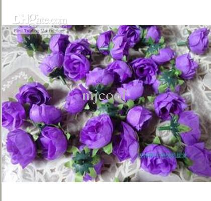 DIY-Handwerk mit Blumengroßhandelssimulationsblumen, die kleine rosafarbene Knospenhochzeitsblume der Blume filmen