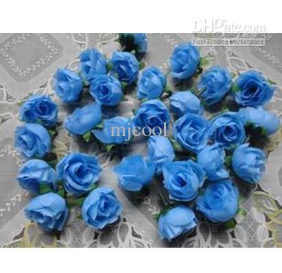 꽃 도매 시뮬레이션 꽃과 DIY 공예품 작은 장미 꽃 봉오리 결혼식 꽃을 촬영
