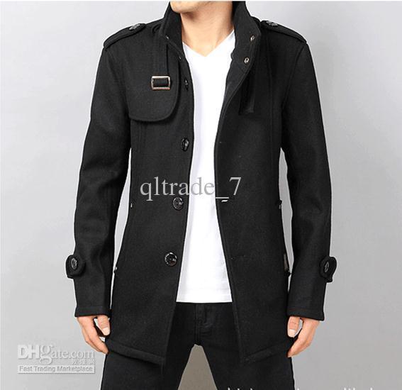 2017 2015 New Cashmere Blend Men Coats Outdoor Coats Business ...