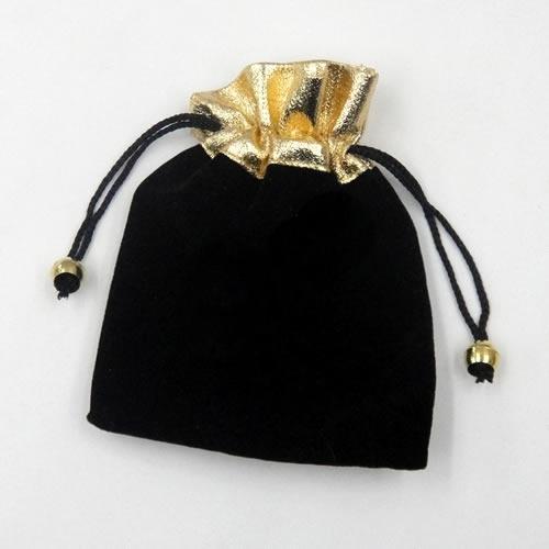 100ピース/ロットブラックベルベットジュエリー包装ディスプレイパウチバッグのためのファッションギフトB09 *