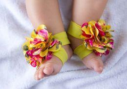 20 pares = 40pcs TOP BABY zapatilla bebé Descalzo Sandalias Pie flor de las muchachas zapatos de flores desde fabricantes