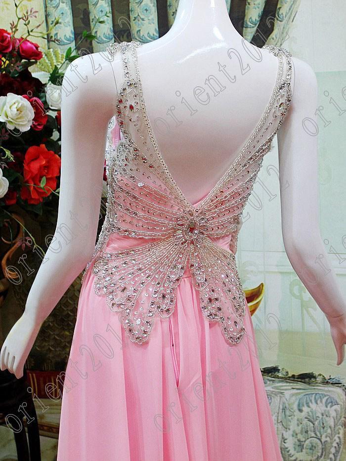2016 New Unique Design Crystals Beads Designer Fashion Evening Gowns ...
