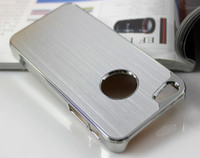 Wholesale Apple Iphone 5g 6th - High quality Silver Luxury Brushed Metal Aluminum Chrome Hard Case For iPhone 5 5G 6th Cool Cover