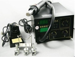 Wholesale Rework Station Hot Air - KADA 852D SMD Rework Soldering Station 2 in 1 welding Station hot Air Iron Hot air station
