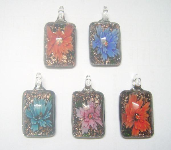 10 teile / los Multicolor Murano Lampwork Glas Anhänger Für DIY Modeschmuck Anhänger Geschenk PG16